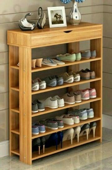 modelo de zapatera de madera hecha en casa