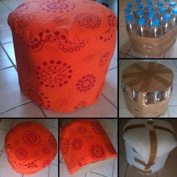 muebles con botellas de plastico paso a paso