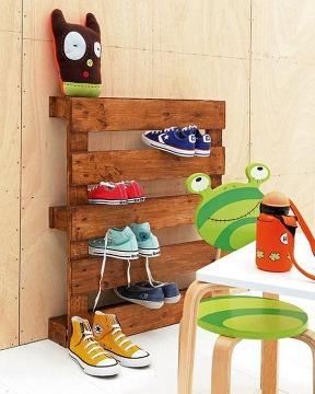 zapatera de madera hecha en casa paso a paso
