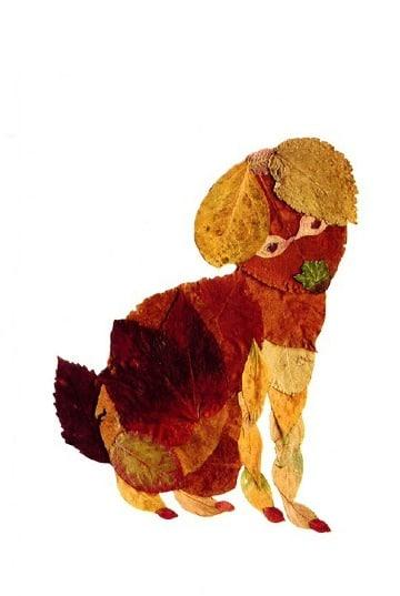 animales hechos con hojas secas paso a paso