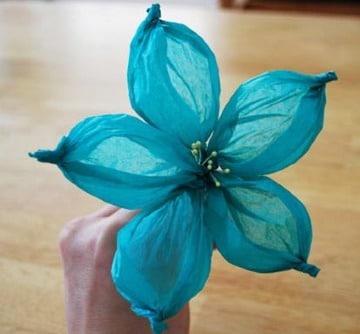 como hacer flores de papel globo paso a paso