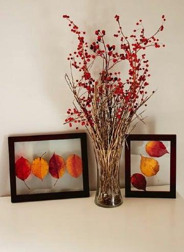 decoracion con hojas secas para el hogar