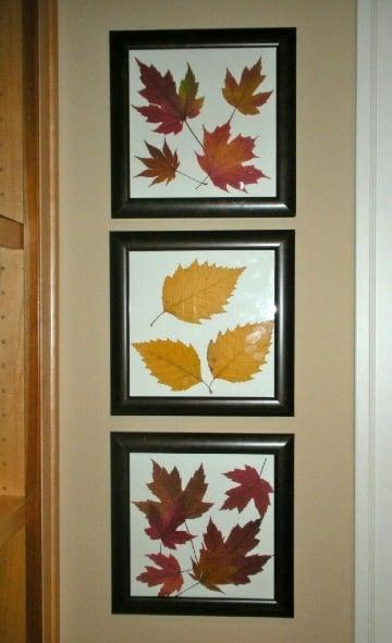 decoracion con hojas secas paso a paso