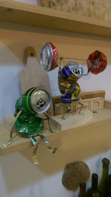 figuras con latas de aluminio faciles