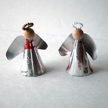 figuras con latas de refresco para navidad