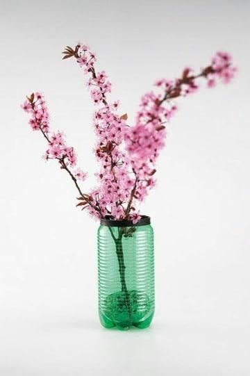 floreros reciclados de botellas de plastico para el hogar