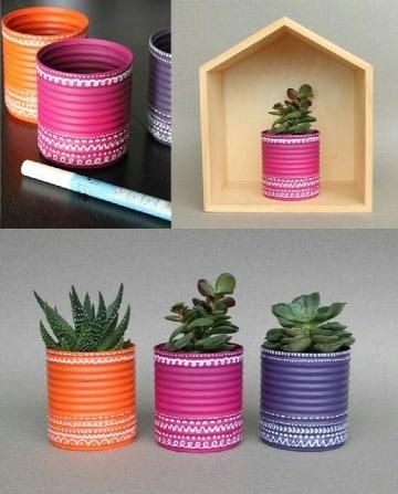 ideas de reciclado de latas de durazno