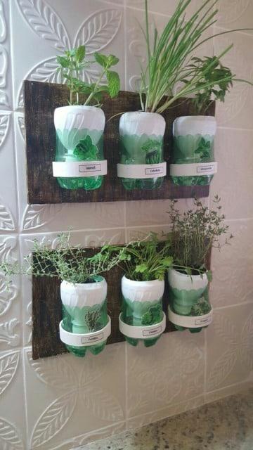 ideas para floreros reciclados de botellas de plastico
