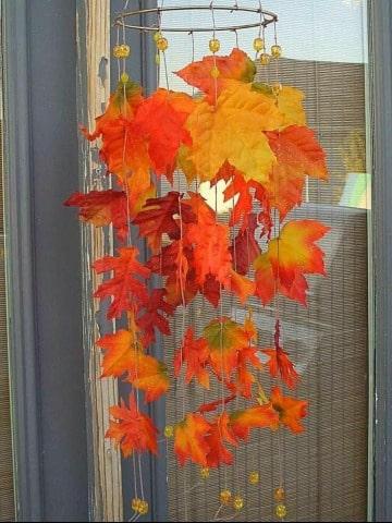 imagenes de decoracion con hojas secas