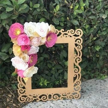 imagenes de marcos con flores de papel