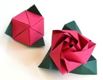 imagens de como hacer una rosa de cartulina