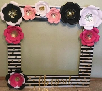 marcos con flores de papel para fotos