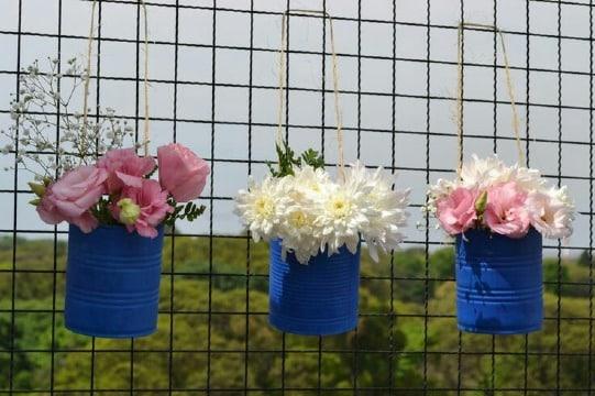 reciclado de latas de durazno para decoracion