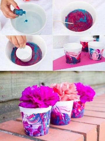 como hacer macetas decoradas para niños