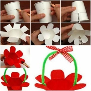 como hacer manualidades con vasos descartables