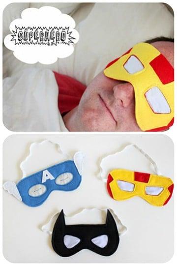 como hacer una mascara de tela de superheroes