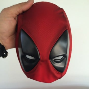 como hacer una mascara de tela deadpool