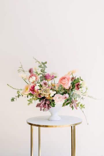 flores y plantas para centros de mesa