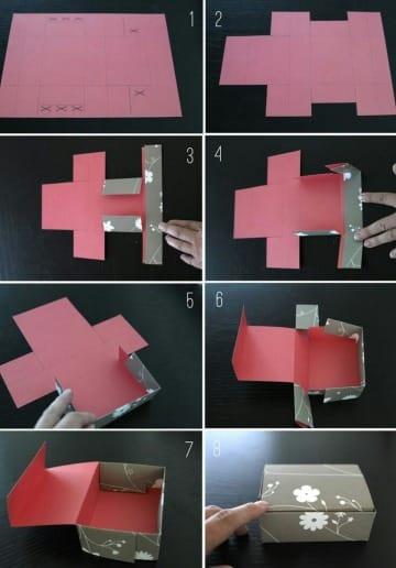 imagenes de como hacer cajitas de cartulina