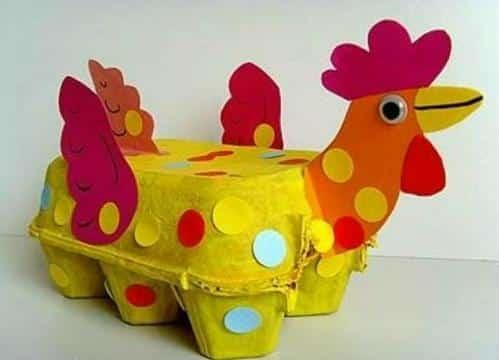 manualidades con cajas de huevo para niños