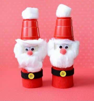 manualidades con vasos descartables para navidad