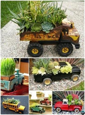 como  hacer maceteros reciclados para jardin