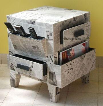 como hacer organizadores de carton reciclado