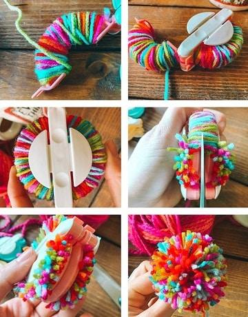 como hacer pompones de lana tutorial