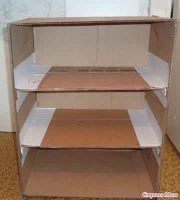 como hacer una zapatera de carton con cajas