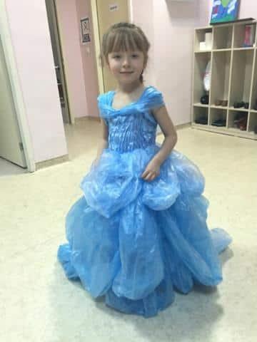 como hacer vestidos reciclados de bolsas de princesa