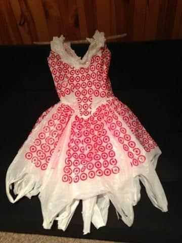 como hacer vestidos reciclados de bolsas moda