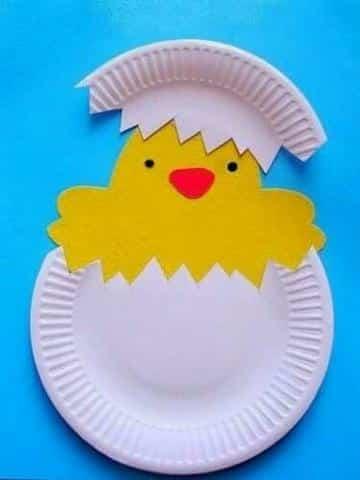 manualidades con platos descartables para preescolar