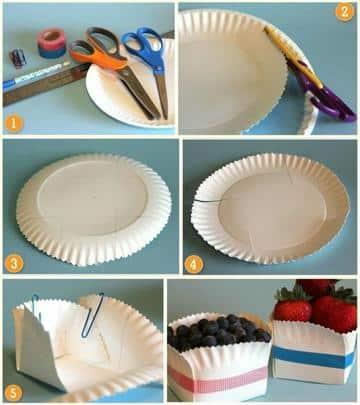 manualidades con platos descartables paso a paso
