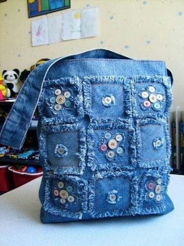 carteras recicladas de jeans paso a paso