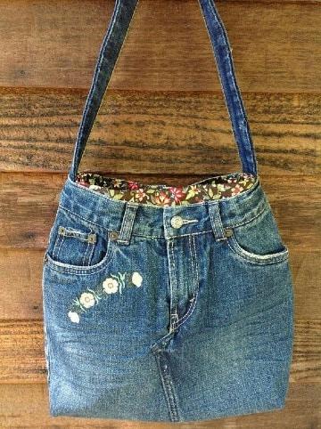 como hacer carteras recicladas de jeans