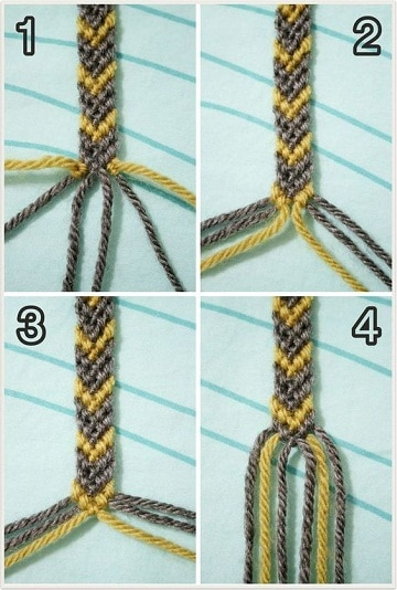 como hacer pulseras de hilo macrame paso a paso