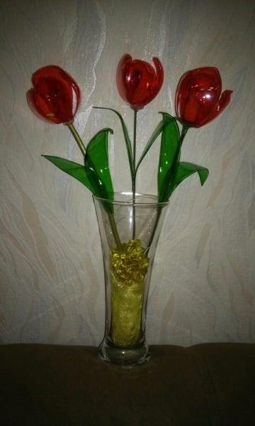 flores con botellas de plastico paso a paso