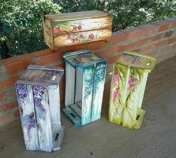 huacales de madera decorados faciles