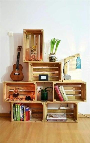 ideas de manualidades con rejas de madera
