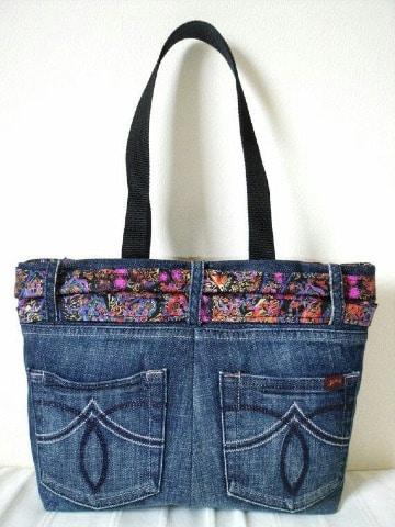 imagenes de carteras recicladas de jeans