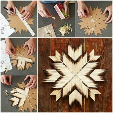 imagenes de manualidades con cerillas de madera