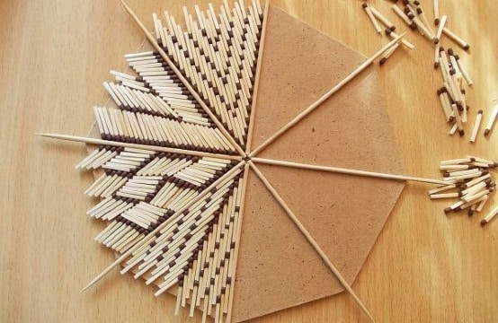 manualidades con cerillas de madera faciles de hacer