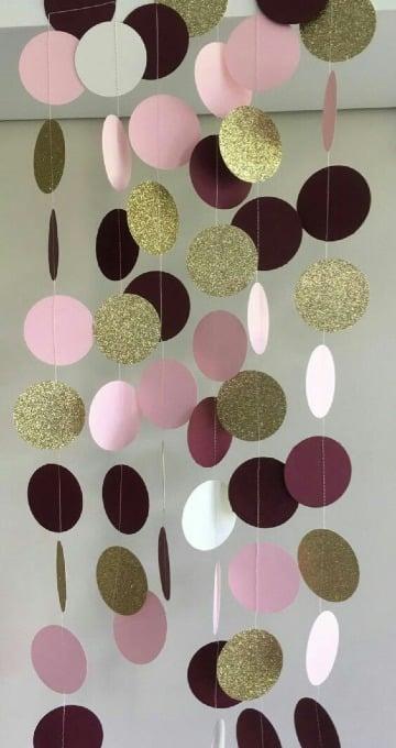 manualidades con circulos de papel para decoracion