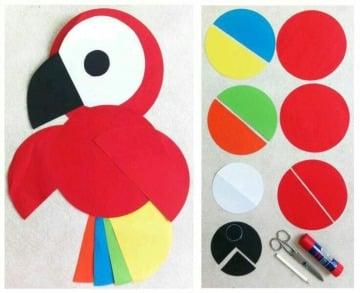 manualidades con circulos de papel para niños