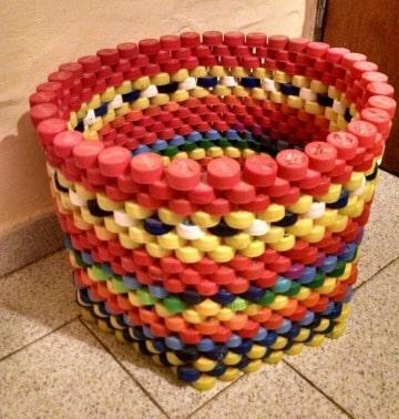 manualidades con tapas de gaseosa para el hogar