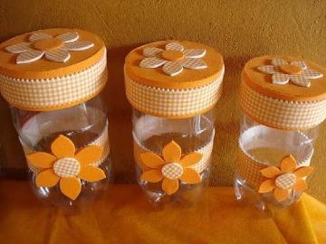 adornos con botellas de plastico para el hogar