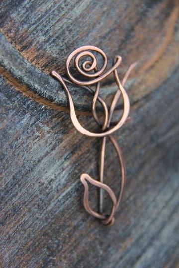 como hacer manualidades con alambre de cobre