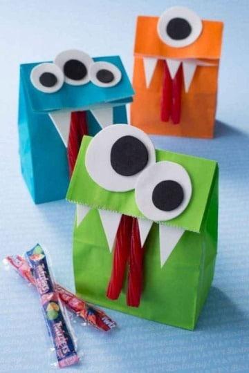 como hacer manualidades con bolsas de papel