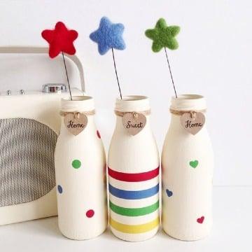 como hacer manualidades con botellas de yogurt