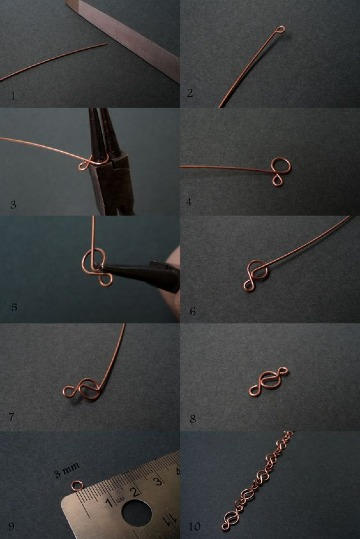 ideas de manualidades con alambre de cobre
